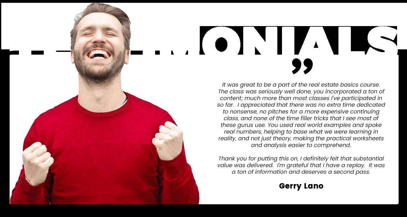 testimonial Gerry